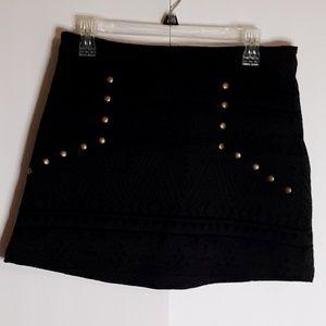Flying Tomato Mini Skirt Black Embellished Size La